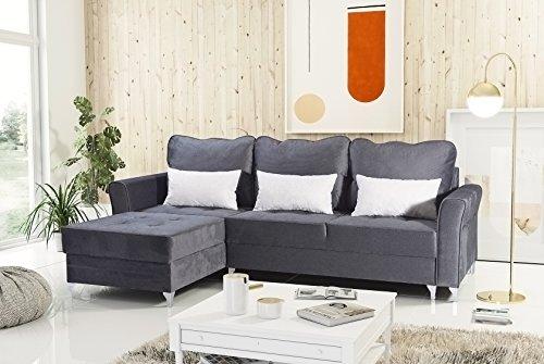 mb-moebel Ecksofa Eckcouch mit Bettkasten Sofa Couch L-Form Polsterecke Timor