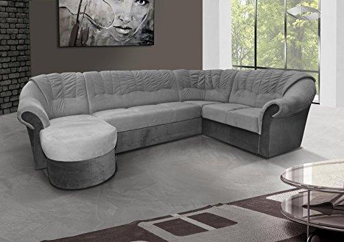 mb-moebel Ecksofa mit Schlaffunktion Eckcouch Sofa Couch mit Bettkästen L -Form Polsterecke Grau Frio 2