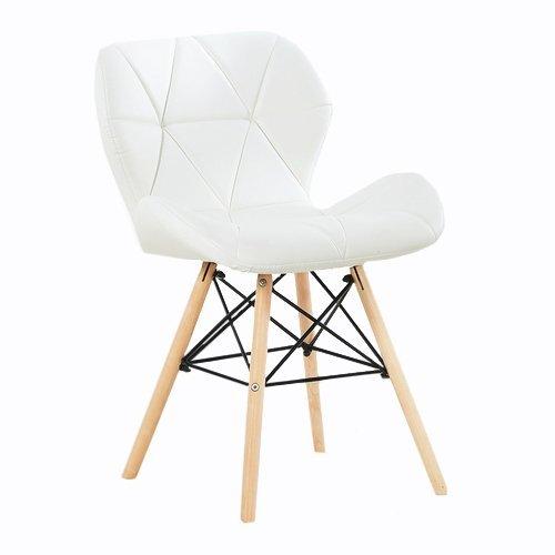 P & N Homewares® Cecilia Eiffel millmead inspiriert Stuhl aus Kunststoff Retro Weiß Schwarz Grau Rot Esszimmerstuhl Büro Stuhl Lounge weiß