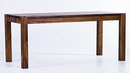 Brasilmöbel Esstisch 'Rio Kanto' 120 x 80 x 78 cm, Pinie Massivholz, Farbton Eiche antik Cognac