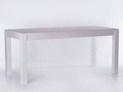 Brasilmöbel Esstisch 'Rio Kanto' 140 x 80 x 78 cm, Pinie Massivholz, Farbton Weiß