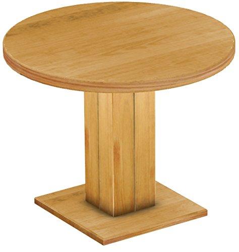 Brasilmöbel Esstisch Rio Uno, Pinie Massivholz, geölt und gewachst Honig, 100 cm rund / 78 cm hoch