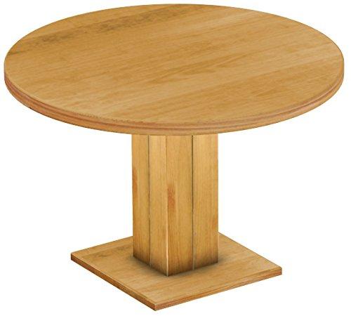 Brasilmöbel Esstisch Rio Uno, Pinie Massivholz, geölt und gewachst Honig, 120 cm rund / 78 cm hoch