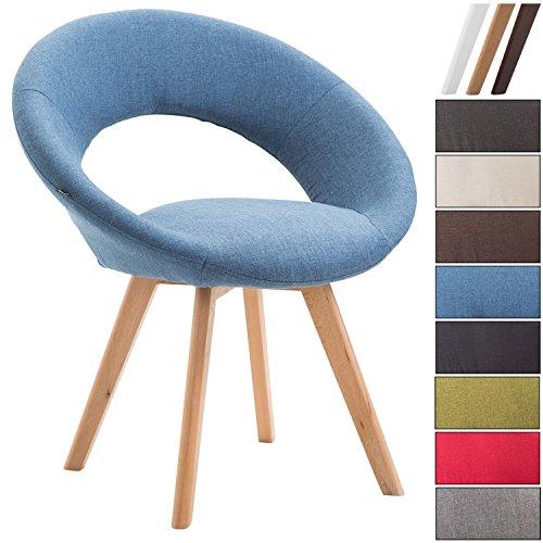 CLP Esszimmerstuhl Beck mit Armlehnen I Gepolsterter Stuhl mit sesselförmigem Sitz und Stoffbezug I in Verschiedenen Farben erhältlich