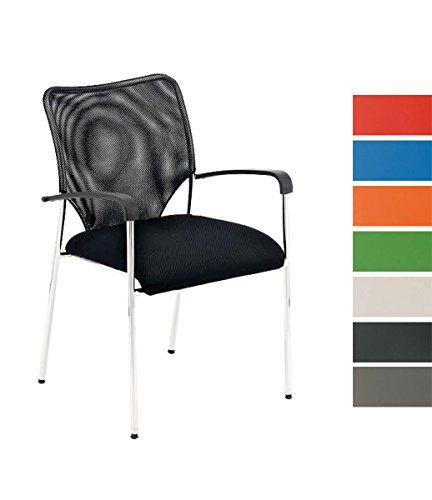 CLP Konferenzstuhl / Besucherstuhl CUBA mit Armlehne & gut gepolsterter Sitzfläche
