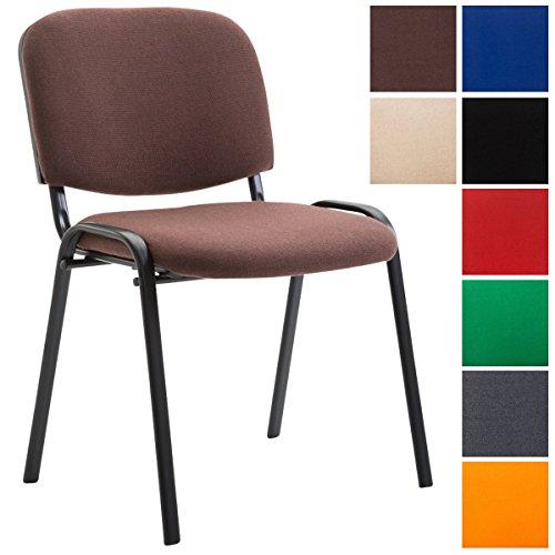 CLP Konferenzstuhl Ken V2 mit Stoffbezug und Hochwertiger Sitzpolsterung I Stapelbarer Besucherstuhl I in Verschiedenen Farben erhältlich