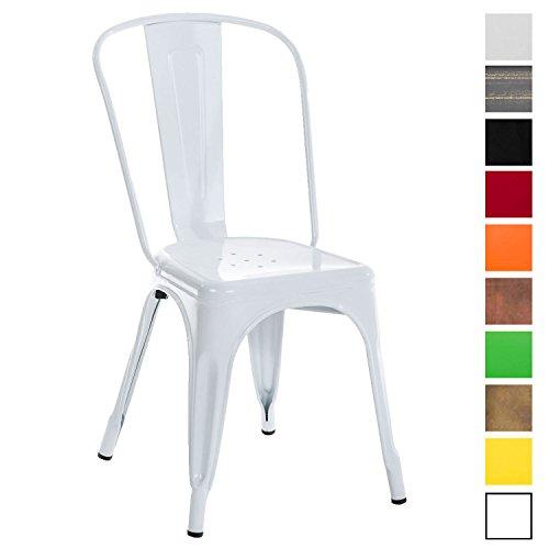 CLP Metallstuhl Benedikt mit Hoher Rückenlehne und Bodenschonern I Stapelstuhl aus Metall mit Einer Sitzhöhe von: 46 cm I in Verschiedenen Farben erhältlich