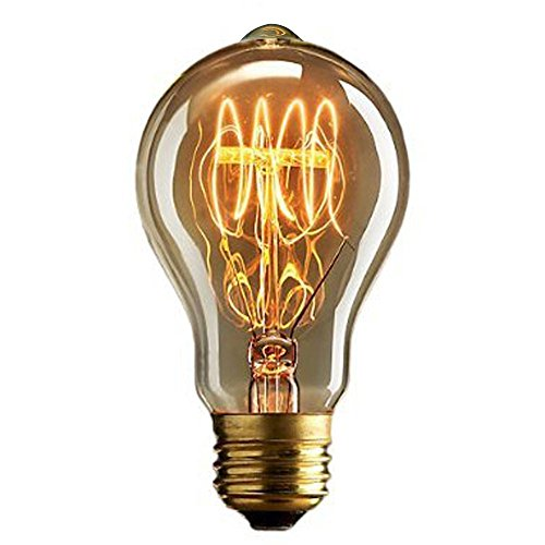 Cmyk? DIMMABLE Vintage light bulb - quad loop filament (old fashioned Edison) E27