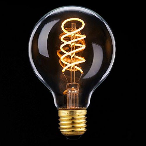 Elfeland ® E27 LED Classic Edison Glühbirne Spiral Filament Glühlampe 2200K Warmweiß Dimmbar 85-265V Ideal für Nostalgie und Antik Beleuchtung