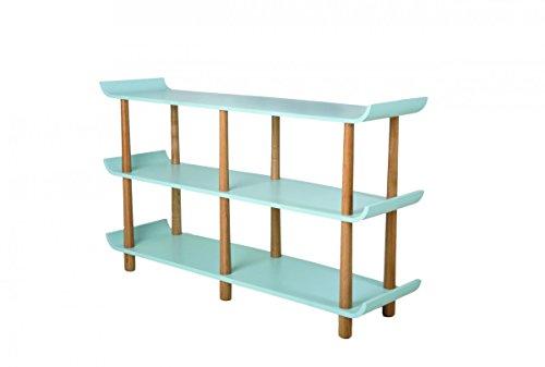 Galdem Retro Schreibtisch Stuhl Regal Büromöbel Set Holzfüße Bürostuhl Computertisch Arbeitstisch Bürotisch PC-Tisch Bücherregal Standregal Esche Blau