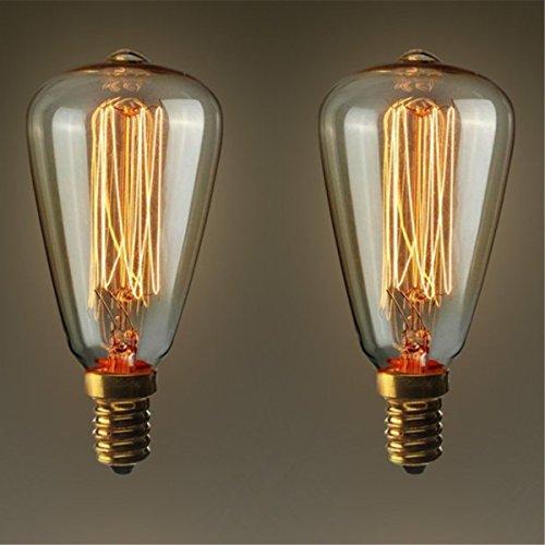 KINGSO E14 Vintage Retro Edison Glühbirne Glühlampe (40W, ST48, Dimmbar) Ideal für Nostalgie und Antik Beleuchtung 2200K 220V Warmweiß
