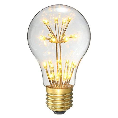 KINGSO LED E27 3W Edison Lampe Vintage Retro Stil Glühbirne 2300K Deko Glühlampe Warmweiß
