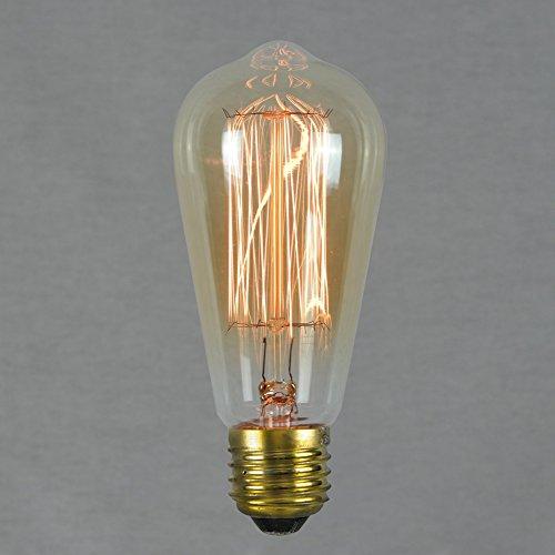 Vintage Retro Edison Glühbirne 60W E27 – Vollständig Dimmbar ,Squirrel Cage' Glühfaden 64mm - The Retro Boutique ®