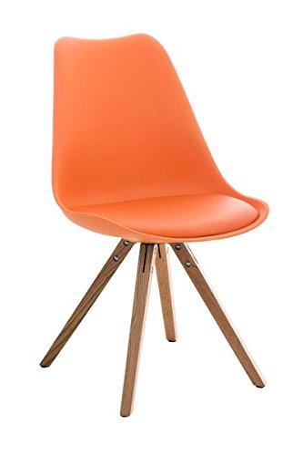 Esszimmerstuhl, Küchenstuhl, Lehnenstuhl, Sitzgelegenheiten, Besucherstuhl, Stuhl, Wartezimmerstuhl, Wohnzimmerstuhl Materialmix natura orange #PeglegS