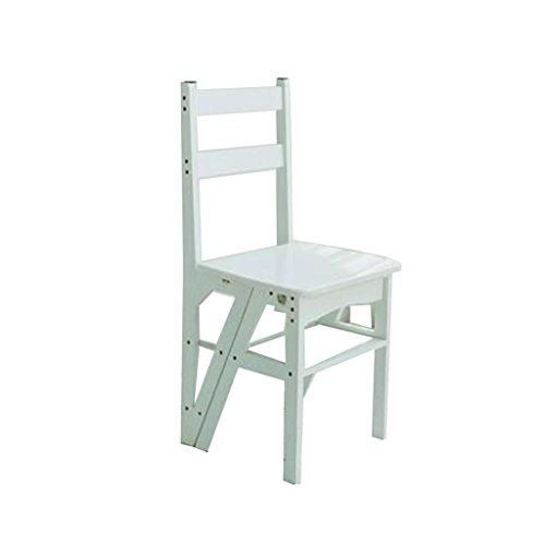Klappstufen Multifunktionale Haushaltsklappleiter kreativer Retro- Stuhl Leiter mit vier Schritten dicker Bambusschrittleiter kletternde Leiter des Innenraums Gestell Blume Stuhl