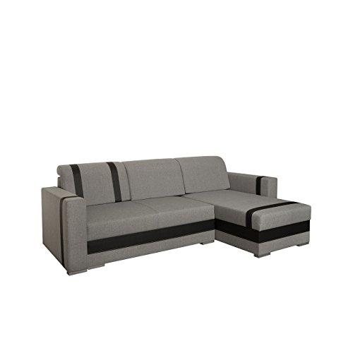 Mirjan24  Design Ecksofa Eckcouch Trendy mit Schlaffunktion und Bettkasten, Bettsofa, Funktionssofa, L-Form Sofa Couch Wohnlandschaft! (Inari 91 + Cayenne 1114)