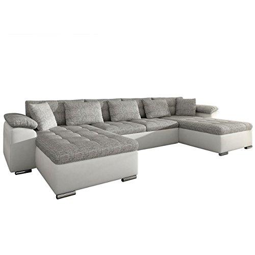 Mirjan24  Ecksofa Wicenza! Design Big Sofa Eckcouch Couch! mit Schlaffunktion Bettfunktion! Wohnlandschaft! U-Form, Große Farbauswahl (Soft 017 + Florida 01)