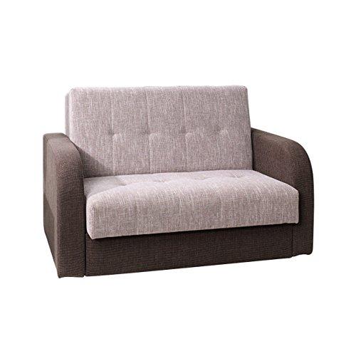 Mirjan24  Schlafsofa American Quadro II, Couch mit Bettfunktion, Polstersofa mit Bettkasten und Schlaffunktion, Bettsofa, (Gomera 04 + Gomera 02)
