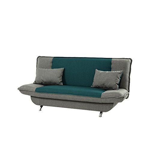 Mirjan24  Schlafsofa Bolero mit Bettkasten, 3 Sitzer Sofa, Couch mit Schlaffunktion, Bettsofa Schlafsofa Polstersofa Couchgarnitur (Lux 30 + Lux 05)