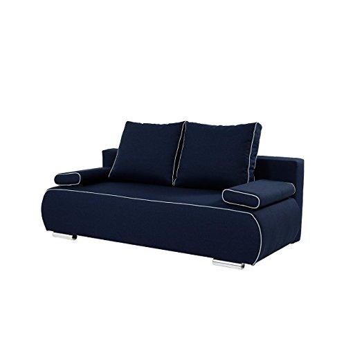 Mirjan24  Schlafsofa Las Palmas mit Bettkasten, 2 Sitzer Sofa, inkl. Kissen-Set, Couch mit Schlaffunktion, Bettsofa Schlafsofa Polstersofa Couchgarnitur (Lux 34 + Lux 31)