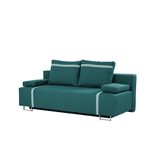 Mirjan24  Schlafsofa Las Vegas mit Bettkasten, 2 Sitzer Sofa, Couch mit Schlaffunktion, Bettsofa Schlafsofa Polstersofa Couchgarnitur (Lux 30 + Lux 29)