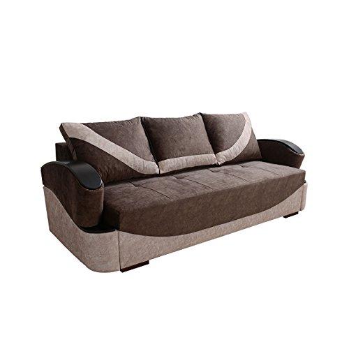 Mirjan24  Schlafsofa mit Bettkasten Turbo! Couch Sofa mit Schlaffunktion, Bettsofa, Funktionsofa, Modern Still Polstersofa, Wohnzimmer, (Forever 64 + Forever 61)