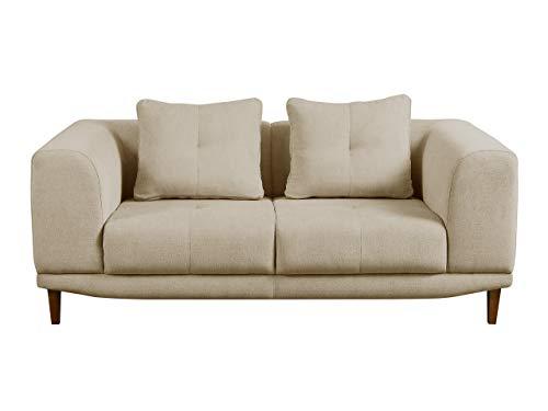 Mirjan24  Sofa Mello II, Farbauswahl, 2 Sitzer Couch, Hochwertiges Polstersofa, Couchgarnitur, Sofagarnitur, Wohnlandschaft (Chester 2)