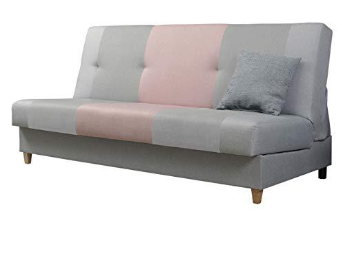 Mirjan24  Sofa Twister mit Bettkasten und Schlaffunktion, Farbauswahl, Schlafsofa, Wohnlandschaft, Schlafcouch, Couch (Malmo New 90 + Malmo New 83 + Malmo New 61)
