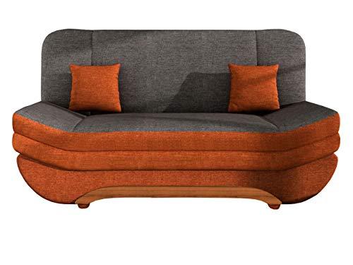 Mirjan24  Sofa Weronika mit Bettkasten und Schlaffunktion, Schlafsofa, Große Farb- und Materialauswahl, Couch vom Hersteller, Wohnlandschaft (Lux 10 + Lux 06)
