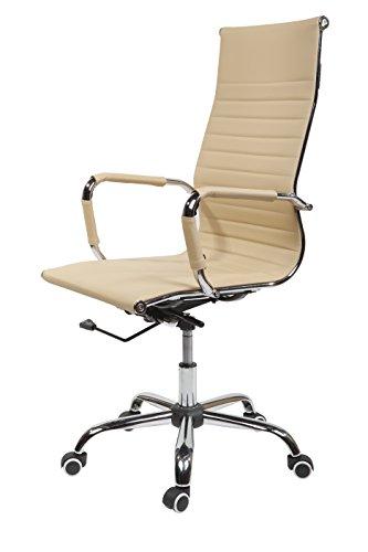 SVITA Design Bürostuhl Chrom Rahmen Elegance Chefsessel Drehstuhl Konferenz-Stuhl
