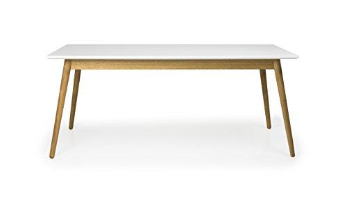 Tenzo 1680-001 Dot Designer Esstisch Holz, weiß / eiche, 90 x 180 x 75 cm
