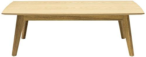 Tenzo 2189-001 Bess Designer Couchtisch, 38 x 120 x 60 cm, weiß/Eiche