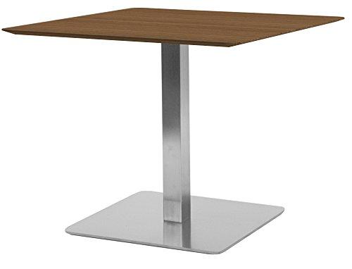 Tenzo Chill 3702-044 Designer Quadrattisch, 75 x 70 x 70 (Hxbxt), Tischplatte : 19 mm MDF, Nussbaum, Nussbaum/Stahl, Furniert