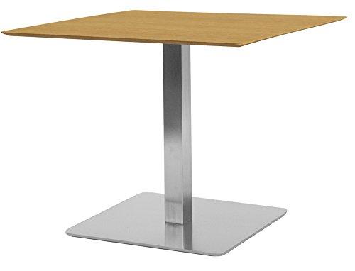 Tenzo Chill Designer Quadrattisch, MDF, Eiche/Stahl, One Size