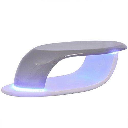 vidaXL LED Hochglanz Couchtisch Beistelltisch Wohnzimmer Tisch mehrere Auswahl