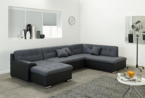 ARBD Wohnlandschaft Rocky, Couchgarnitur U-Form, mit Schlaffunktion 325 x205cm