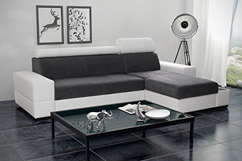 Ecksofa Sofa Eckcouch Couch mit Schlaffunktion und Bettkasten Ottomane L-Form Schlafsofa Bettsofa Polstergarnitur Wohnlandschaft - CAPRI