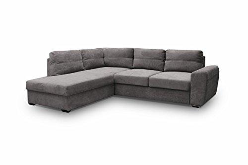 Ecksofa Sofa Eckcouch Couch mit Schlaffunktion und Bettkasten Ottomane L-Form Schlafsofa Bettsofa Polstergarnitur Wohnlandschaft - PRESTO