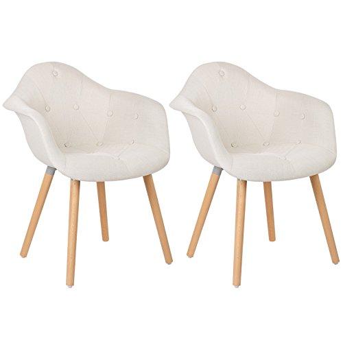 retro stuhl woltu 623 esszimmerst hle 2er set. Black Bedroom Furniture Sets. Home Design Ideas