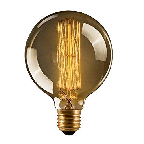 CMYK? Antike Edison Vintage MasterGlobe Gl¨¹hbirne (40W, E27, 220-240V) Ideal f¨¹r Nostalgie und Retro Beleuchtung