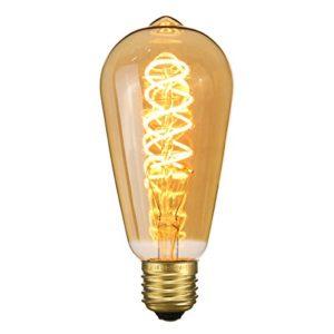 Elfeland ® E27 LED Edison Glühbirne 3D Feuerwerk Retro Vintage Dekorative Glühbirne Glas 85-265V Modell G95 Warmweiß Weiß
