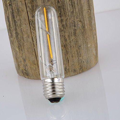 HL209 2W T30-14 LED & Glas Ф3cm / Länge: 14 cm: LED-Glühfaden klassisch dimmbar kühlen Tageslicht Glühbirne altmodisch Edison E27 220V Retro Lampe HL209