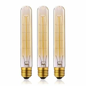 KJLARS Vintage Retro Edison Glühbirne Glühlampe E27 T185 40W birne Lampe tube Flötenrohr Industry Style Leuchtmittel