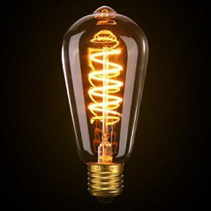 Vintage Edison Glühbirne, Elfeland E27 LED Retro Lampe Soft Spiral Filament Dekorative Glühbirne Ersetzt 25 Watt, 180LM 2200K Dimmbar 85-220V