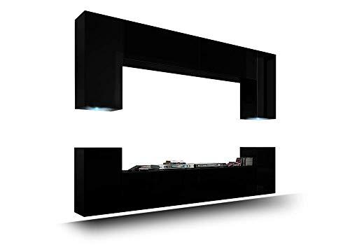 HomeDirectLTD FUTURE 1 Moderne Wohnwand, Exklusive Mediamöbel, TV-Schrank, Schrankwand, TV-Element Anbauwand, Neue Garnitur, Große Farbauswahl (RGB LED-Beleuchtung Verfügbar)