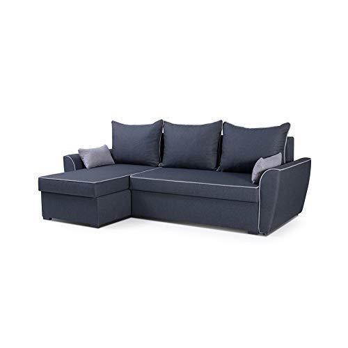 mb-moebel Ecksofa mit Schlaffunktion Eckcouch mit Bettkasten Sofa Couch Wohnlandschaft L-Form Polsterecke Mario
