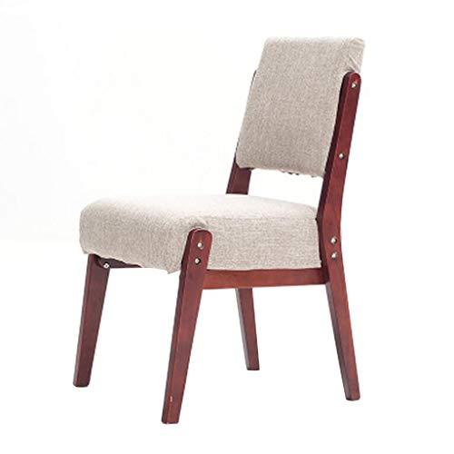 DLDL Stuhl aus Massivem Holz Esszimmer Stuhl zurück Modernen Minimalistischen Retro-Stuhl zu Hause