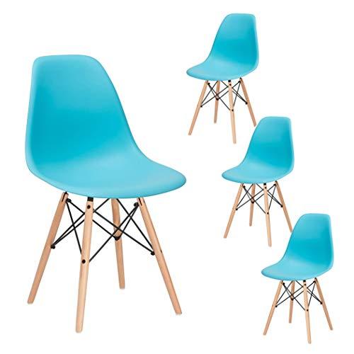 SPRINGOS - Milano 4X Skandinavische Stühle-Set Retro Design für Wohnzimmer Esszimmer Küche Büro